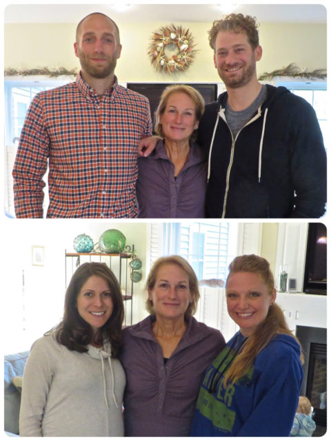 Spending Mothers Day with my two handsome and amazing sons (yes they are really that tall) and their beautiful and wonderful wives. I am a very happy and fortunate mother. Could not ask for anything more.
