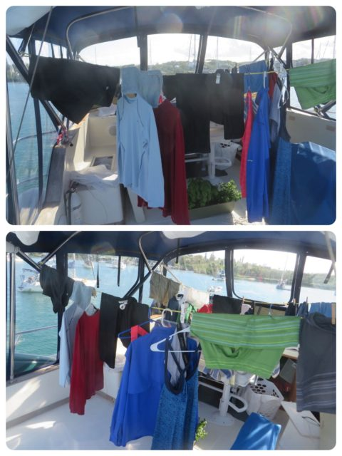 The flybridge on our trawler often became our dryer . Cheaper and kinder to our clothes. Just can't plan on going anywhere that day.