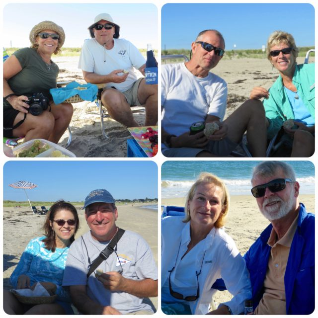 Dean & Mary Jo, Dan & Marcia, Annette & Anthony, Michele & Al - a beautiful beach day!