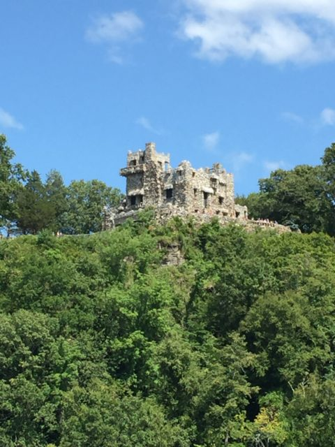 One last look back at Gillette Castle high atop the hill.