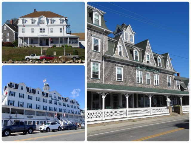 Three Block hotels - The Narragansett, the Surf Hotel, and The National.