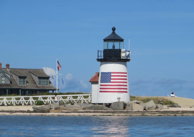 Brant Point Light. Don't recall seeing the flag on the lighthouse before.