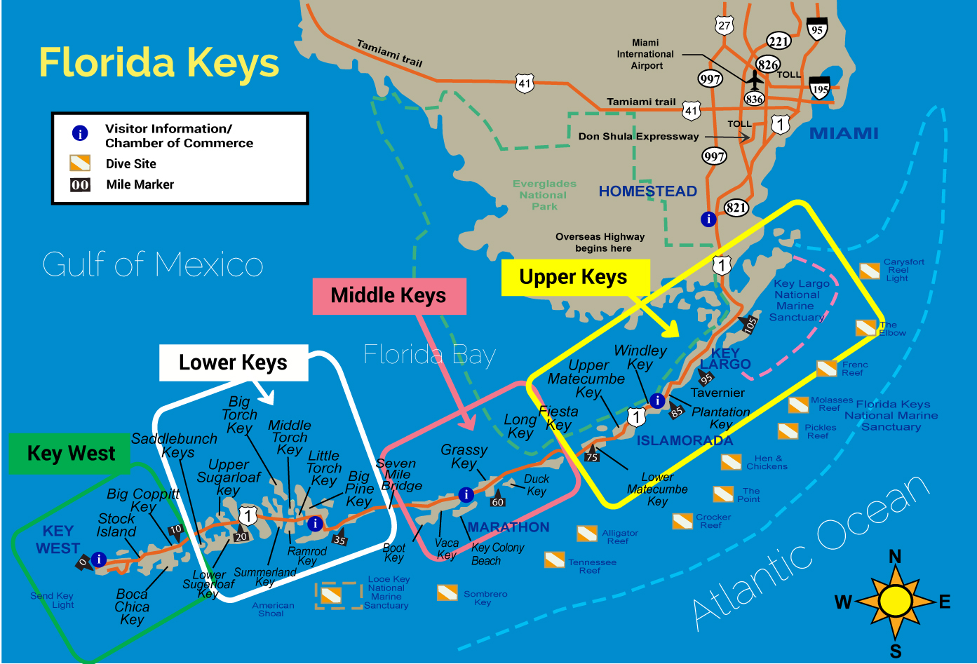 Map Of The Keys In Florida.The Keys To Florida Kindred Spirit